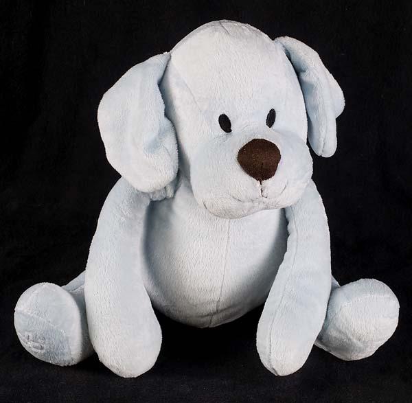 Le Chat Noir Boutique Piccolo Bambino Puppy Dog Blue Plush Lovey