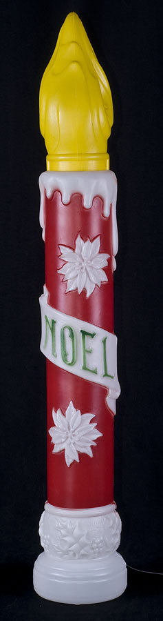 Vintage empire 38 noel candle blow mold yard decor large for Large outdoor christmas candles