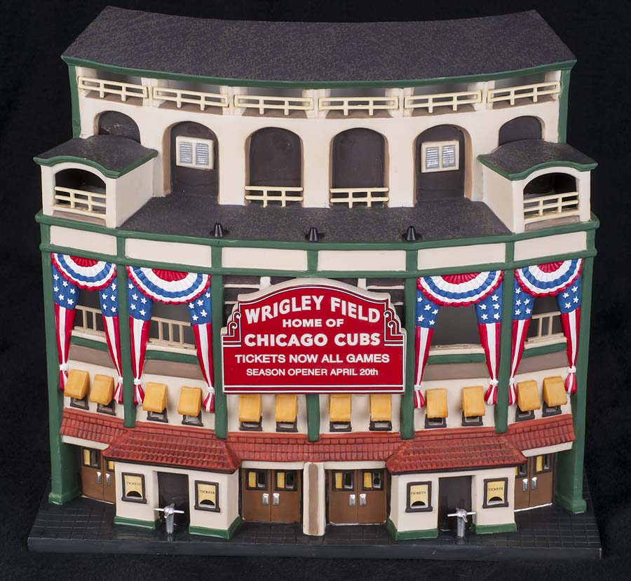 Dept 56 WRIGLEY FIELD Chicago Cubs Christmas in the City Village ...