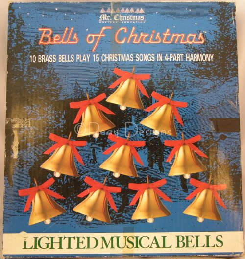 le chat noir boutique mr christmas bells of christmas musical lights display 1994 christmas collectibles christmasmrchristmasbellsbluebox