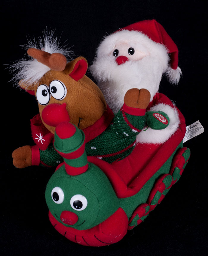 Animated Christmas Toys : Santa train animated musical plush christmas display toys