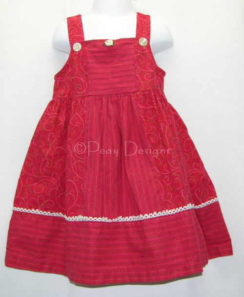 Le Chat Noir Boutique Chicken Noodle Fall Red Dress Sz 4t