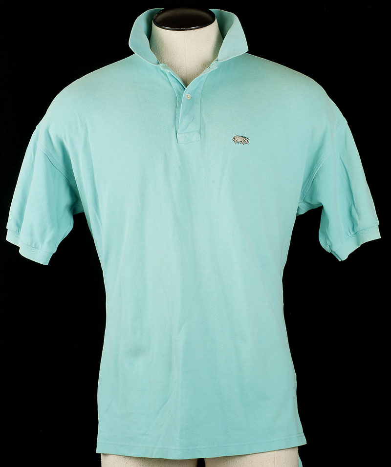 Warthog britches mens xl polo shirt mint blue green vtg for Mint color polo shirt