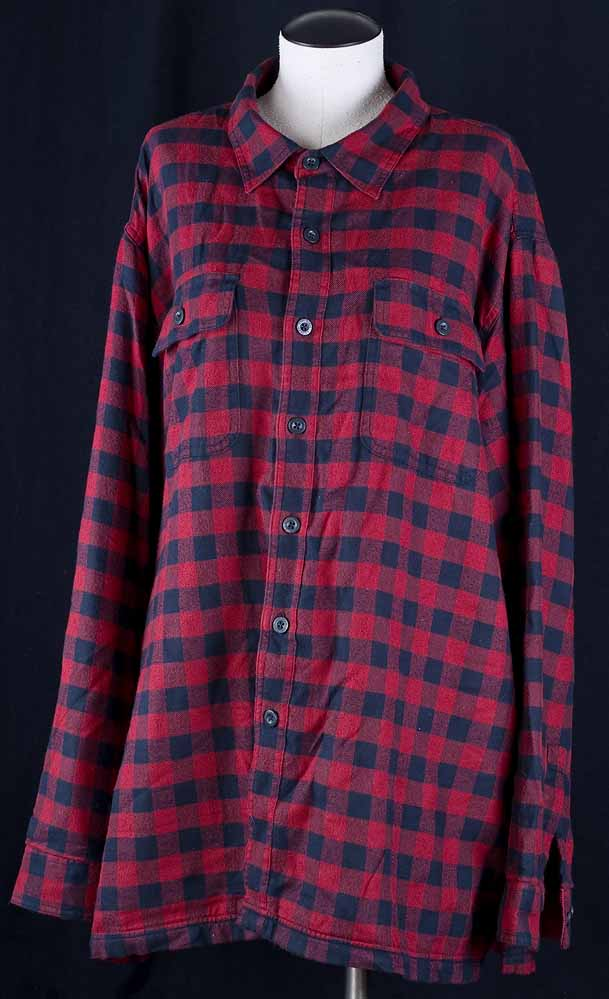 Ll bean red lumberjack flannel thermal lined insulated for Mens insulated flannel shirts