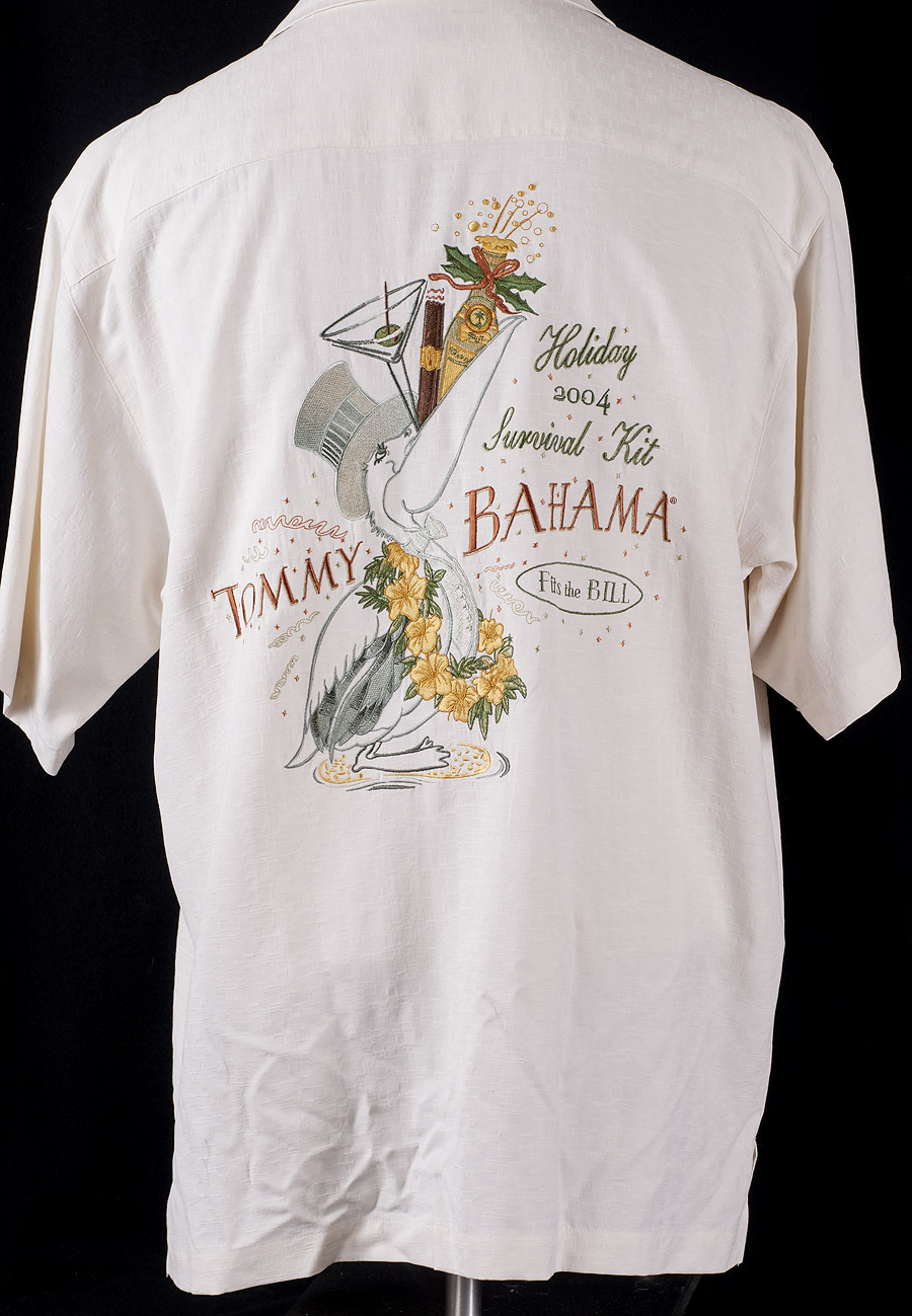 Tommy bahama embroidered holiday survival kit 2004 camp for Tommy bahama embroidered silk camp shirt