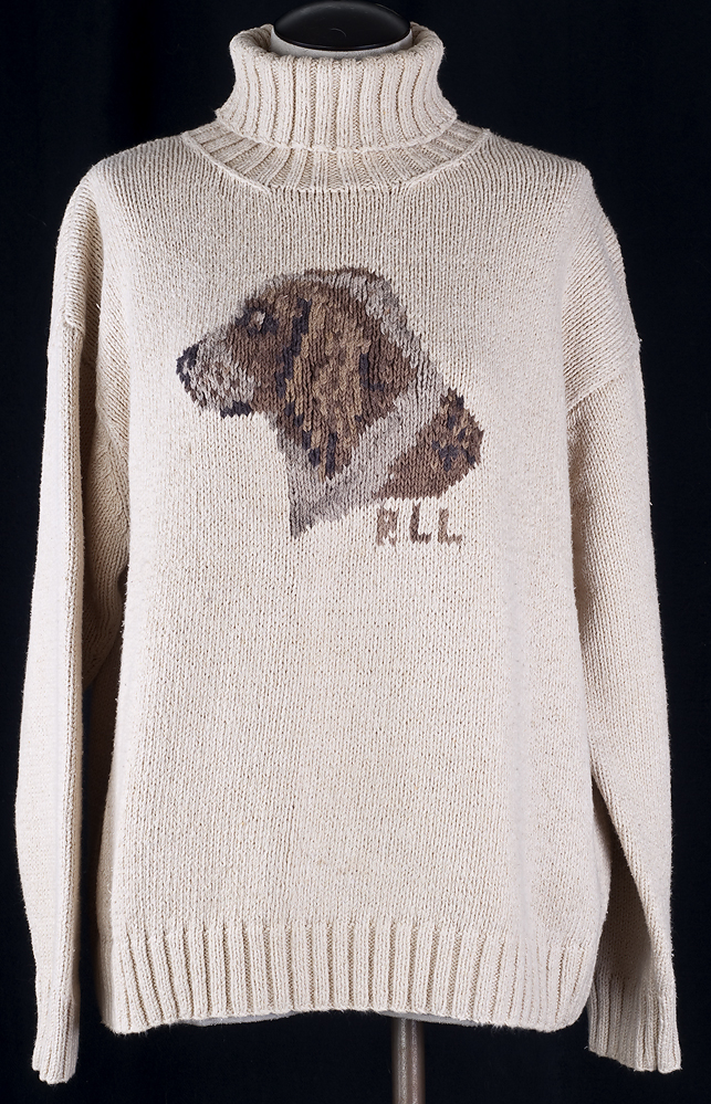 Xl Dog Sweater Knitting Pattern : Ralph lauren sweater hand knitted english springer spaniel
