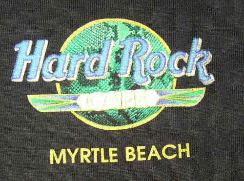 Hard Rock Cafe Myrtle Beach T Shirt From