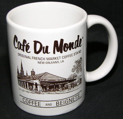le chat noir boutique cafe du monde new orleans french market coffee mug misc coffee mugs. Black Bedroom Furniture Sets. Home Design Ideas