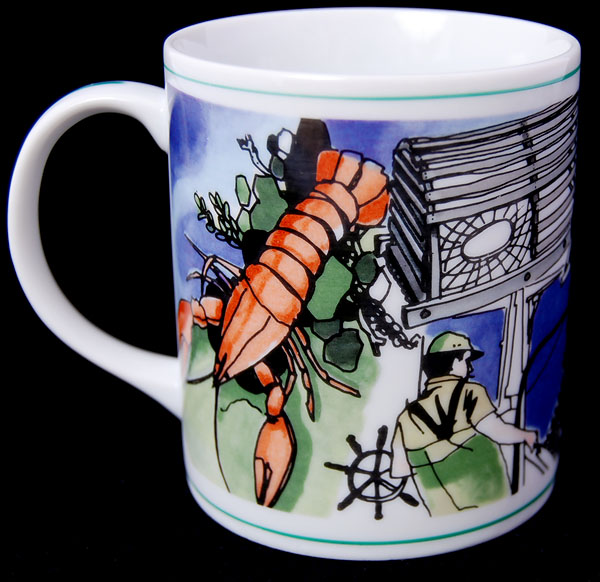 Colonial Candle Of Cape Cod Part - 21: Colonial Candle Of Cape Cod Lobster Fisherman Coffee Mug