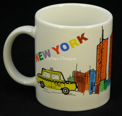 ... Le Chat Noir Boutique New York City Nyc World Trade Center Landmark  Scenic Colorful Coffee Mug ...