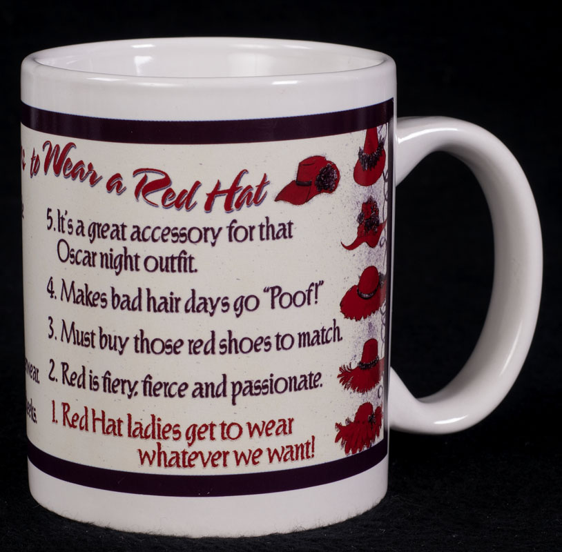 Le chat noir boutique red hat society top 10 reason to Top 10 coffee mugs
