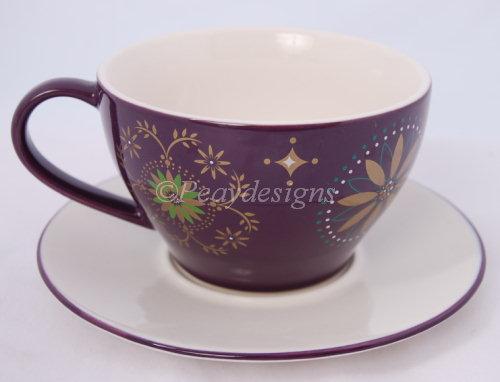 Starbucks Christmas Coffee Mugs.Starbucks Purple Star Holiday 06 Cup Saucer Coffee Mug