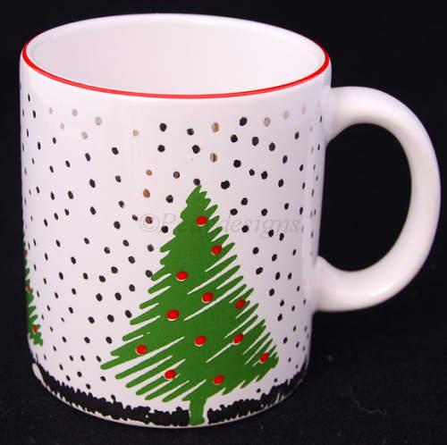 Christmas Trees Coffee Mug Cup