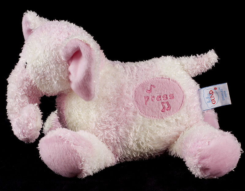 Le Chat Noir Boutique Gund Sprinkles Musical Pink Elephant Baby Lovey Plush 58298 Loveys More Gundsprinklesmusicalpinkelephant