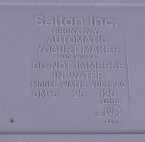 salton yogurt maker instruction manual