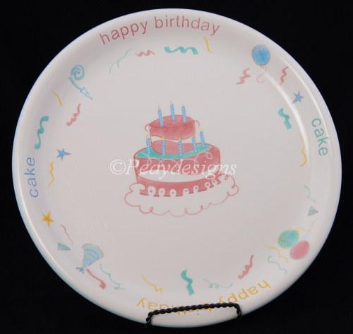 Happy Birthday Cake Platter