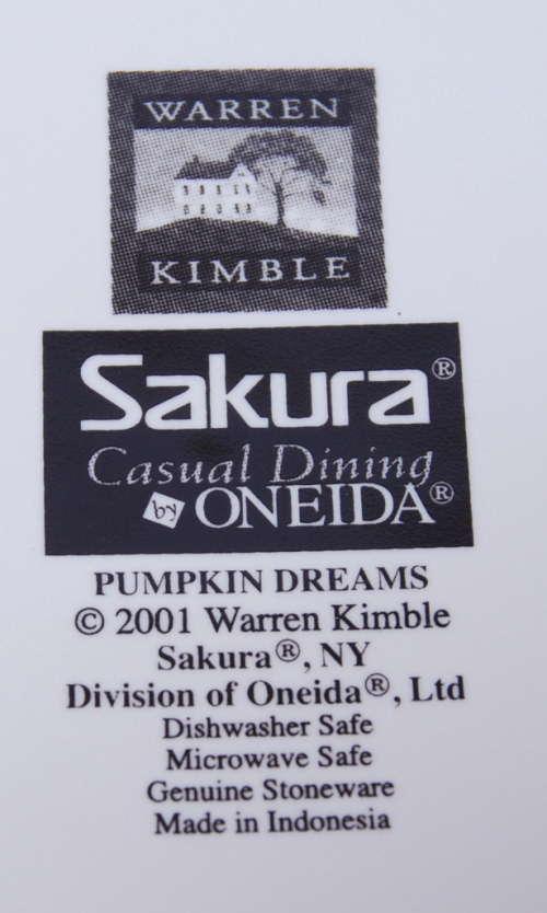Le Chat Noir Boutique: Sakura Warren Kimble PUMPKIN DREAMS Salad ...
