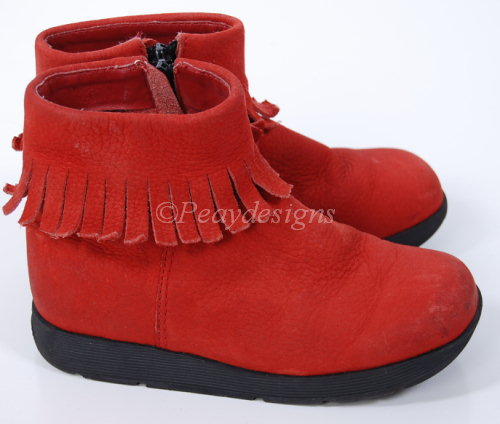 Le Chat Noir Boutique: DKNY Red Leather POCAHONTAS Boots Toddler ...