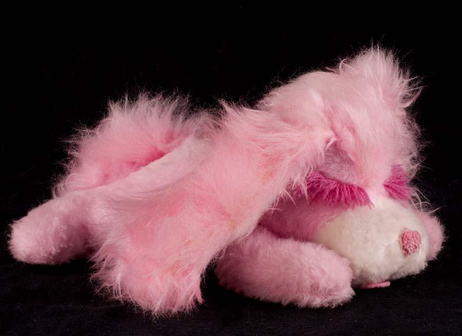 Le Chat Noir Boutique Animal Fair Pink Puppy Dog Plush Lovey