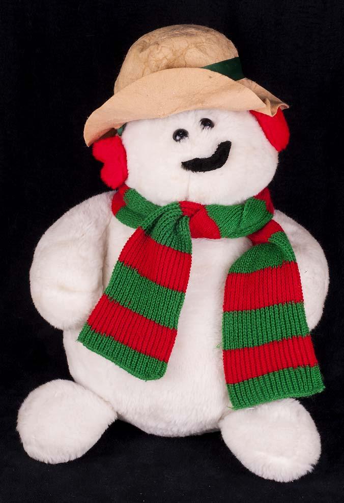 Le Chat Noir Boutique Animal Fair Snowman 21 Christmas Plush Toys