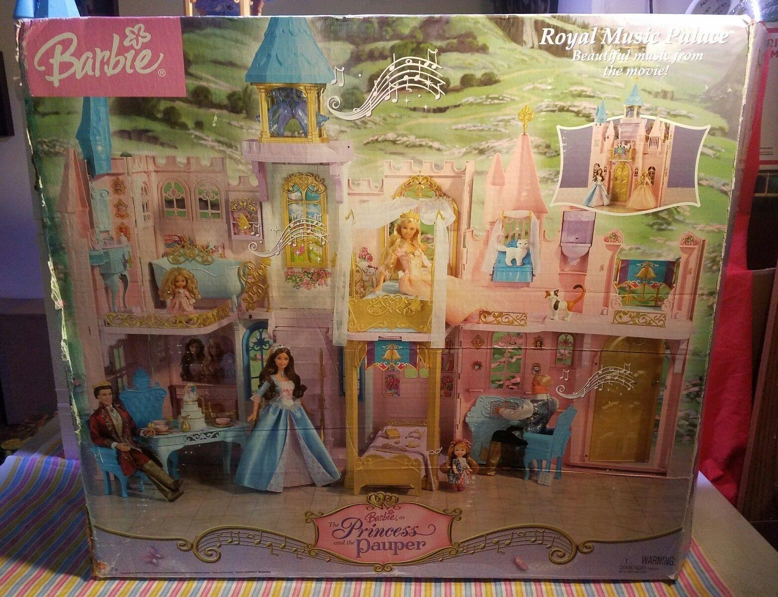 Le Chat Noir Boutique Barbie Princess And Pauper Royal Musical Palace Castle Playset