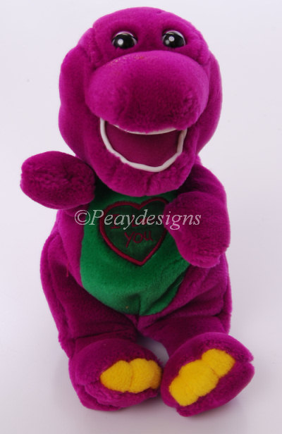 Toys And Love : Le chat noir boutique barney the dinosaur i love you