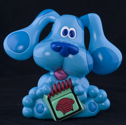 Blues Clues TALKING BLUE WITH NOTEBOOK | eBay