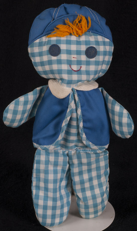 Le Chat Noir Boutique: Fisher Price Cholly Rag Doll #419 Blue ...